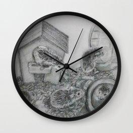 Hamster Family Wall Clock