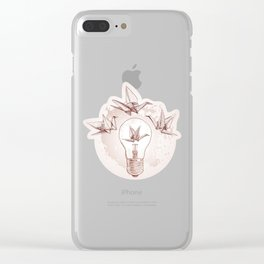 Origami paper cranes and light Clear iPhone Case