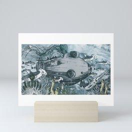 Submarine and Hammerheads Mini Art Print