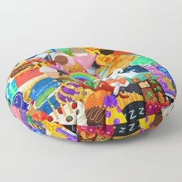 Sticker overload Floor Pillow