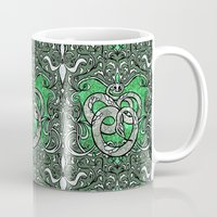 slytherin Mugs featuring Slytherin by Cryptovolans