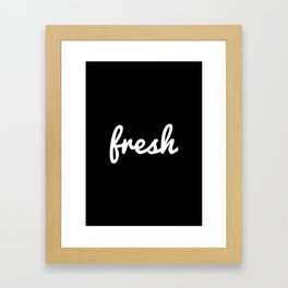 Fresh Handwritten Framed Art Print