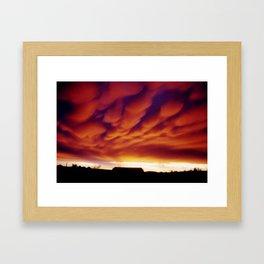 Morning Mammatus Framed Art Print