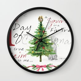 FIRST DAY OF CHRISTMAS WEIMS Wall Clock