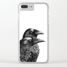 Huginn & Muninn Clear iPhone Case