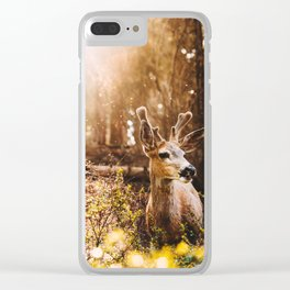 a deer at the yosemite national parl Clear iPhone Case