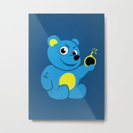 Evil Tattooed Teddy Bear Metal Print