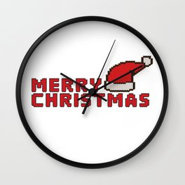 Merry Christmas knitted design Wall Clock