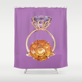 Circles on Purple Shower Curtain