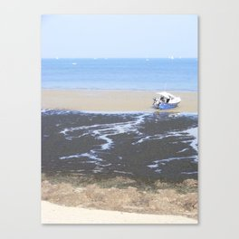 Beach & Boat Canvas Print