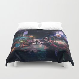 Blues of the Night Duvet Cover