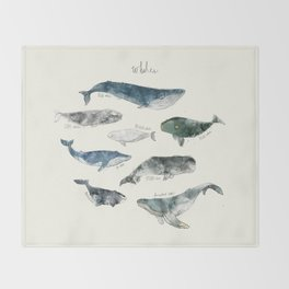 Whales Throw Blanket