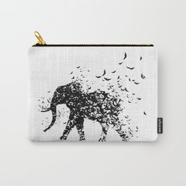 Save the Elephants fading away Carry-All Pouch