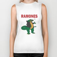 ramones Biker Tanks featuring Ramonasaurus  by Christopher Chouinard