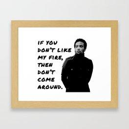 {burn one down} Framed Art Print