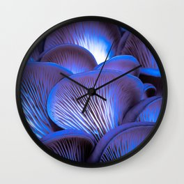 Oyster Mushrooms at Night Wall Clock