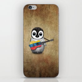 Baby Penguin Playing Venezuelan Flag Guitar iPhone Skin