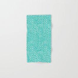 Hand Knit Aqua Hand & Bath Towel