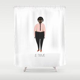 Je t'aime Shower Curtain