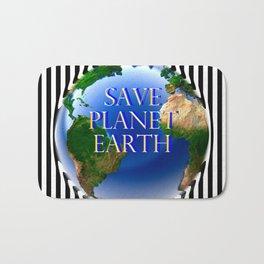 Save Planet Earth Bath Mat