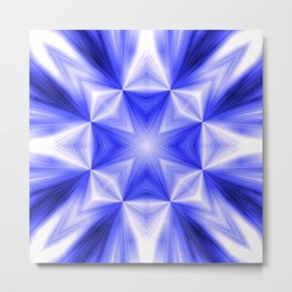 Blue Line Burst Pattern SB10 Metal Print