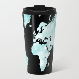 Design 72 world map aqua Travel Mug