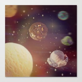 Planets of the ice shapes galaxy Canvas Print