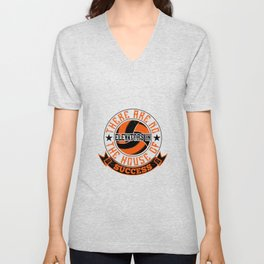 Are No Elevators In The House Of Success Unisex V-Neck