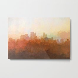 Minneapolis, Minnesota Skyline - In the Clouds Metal Print