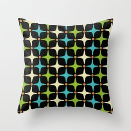 Mid Century Modern Star Pattern 580 Throw Pillow