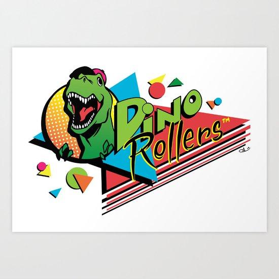 Dino Rollers Logo Art Print