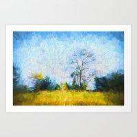 Tree in Field Art Print