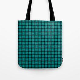 Small Dark Cyan Weave Tote Bag