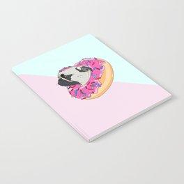 Pug Donut Strawberry Profile Notebook