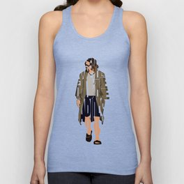 The Big Lebowski Inspired The Dude Typography Artwork Unisex Tank Top