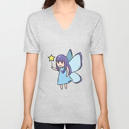 Fee Blue Star fairy tale girl gift Unisex V-Neck