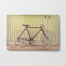 The Vintage Racing Bicycle Metal Print