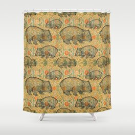 Ode to a Wombat Shower Curtain