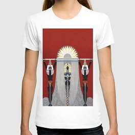 """The Egyptian"" Art Deco Illustration T-shirt"