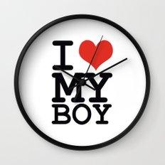 I love my boy Wall Clock
