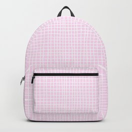 Baby Pink Grid Backpack