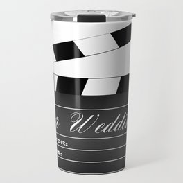 Our Wedding Clapperboard Travel Mug