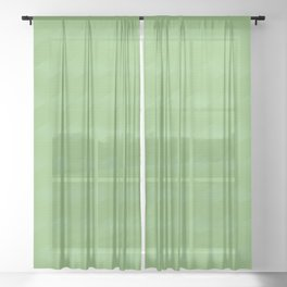 BASK subtle abstract spring green pattern Sheer Curtain