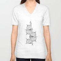 dna V-neck T-shirts featuring DNA by kartalpaf