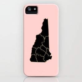 New Hampshire map iPhone Case
