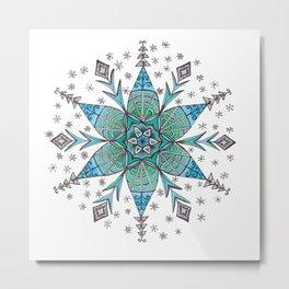 Snowflake Mandala Metal Print