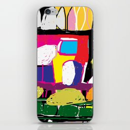 colorful digital abstract painting iPhone Skin