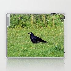 crow on the green Laptop & iPad Skin