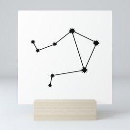Libra Star Sign Black & White Mini Art Print