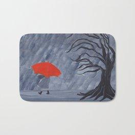 Orange Umbrella Bath Mat